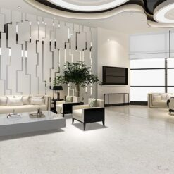 ceramic marble floor naturally warm against noise
