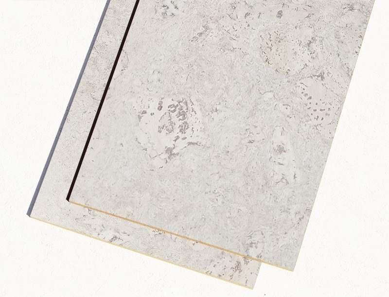 ceramic marble forna cork tiles glue down white colour