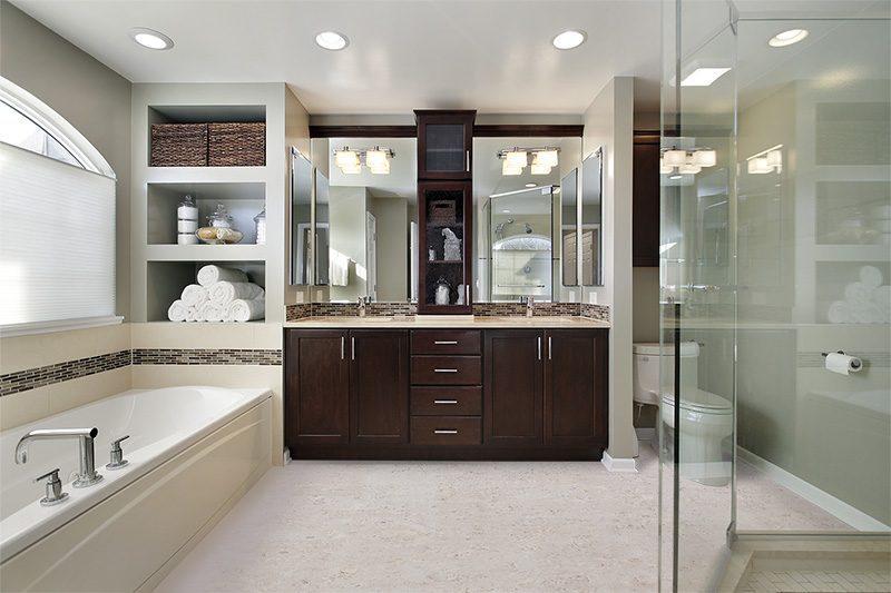 ceramic marble forna cork tiles master bath luxury home