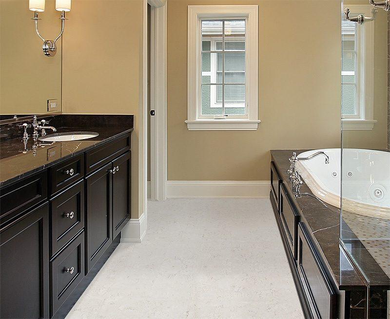 ceramic marble waterproof cork tiles master bath new construction home black tub