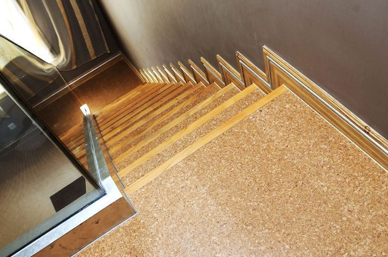 Awesome Comfort Flooring Cork Floating Stairs Floating