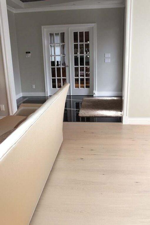 contemporary floor oak creme cork living room