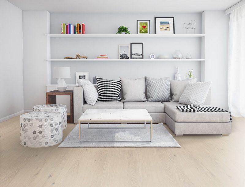 contemporary floor oak creme cork livingroom modern