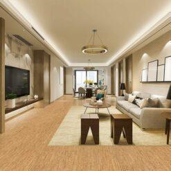 cork floor planks silver birch family room