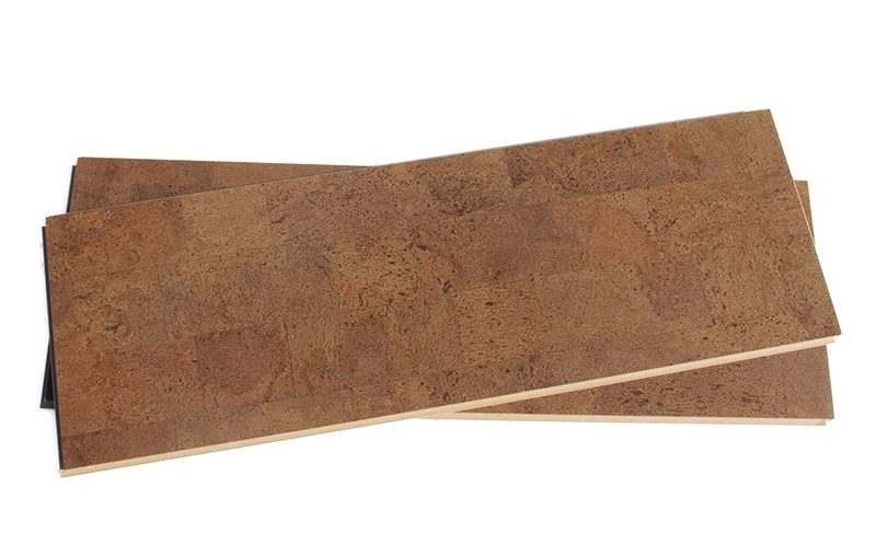 cork plank flooring brown leather forna click