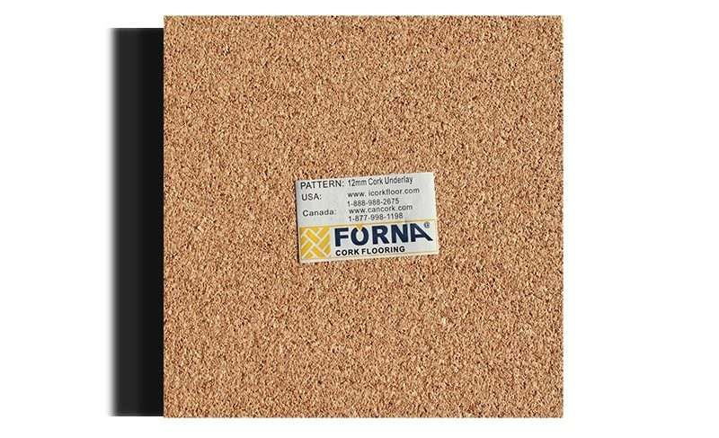 cork underlayment forna 12mm sample