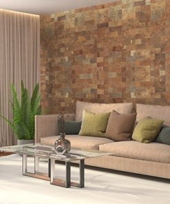 cork wall panels tiles covering livering room