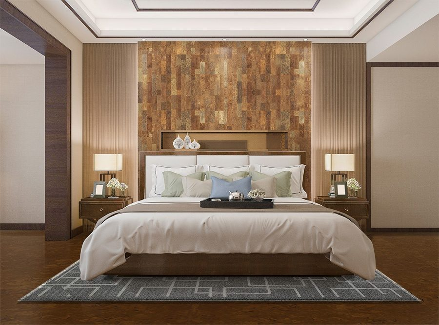 cork wall panels tiles forna eco green acoustic wall covering bedroom