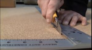 cork wall tiles cuting