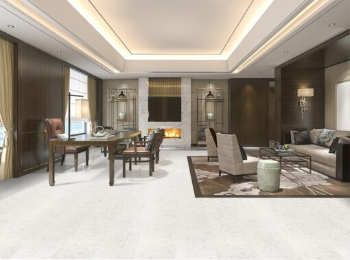 creme royal marble white cork floor big living room