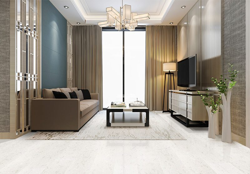 creme royal marble white forna cork flooring luxury and modern living room with fabric sofa