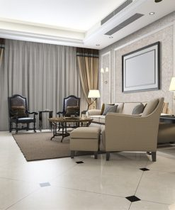 creme wall tiles 3mm classic warm living room interior design idea