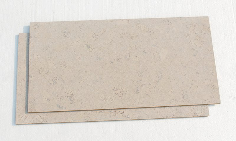 Creme Royal Marble 8mm Cork Tiles Wall For Sound Dampening