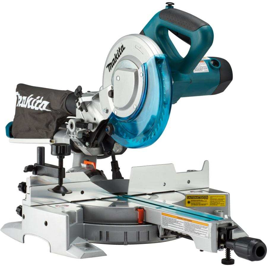 A powered miter saw is recommended for straight cuts.