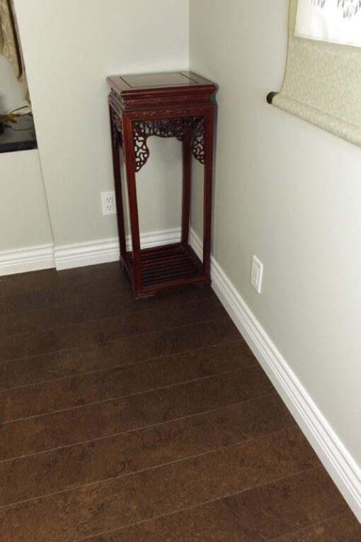 dark cork flooring salami erc piano room soundproofing