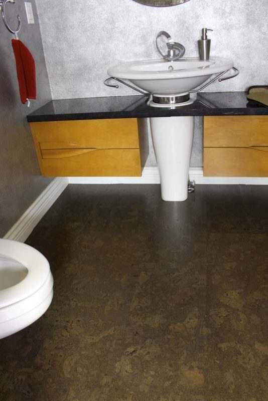 bathroom flooring forna cork tiles walnut burl
