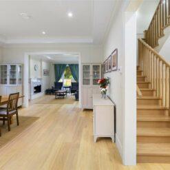 daybreak engineered natural color hardwood flooring living family room
