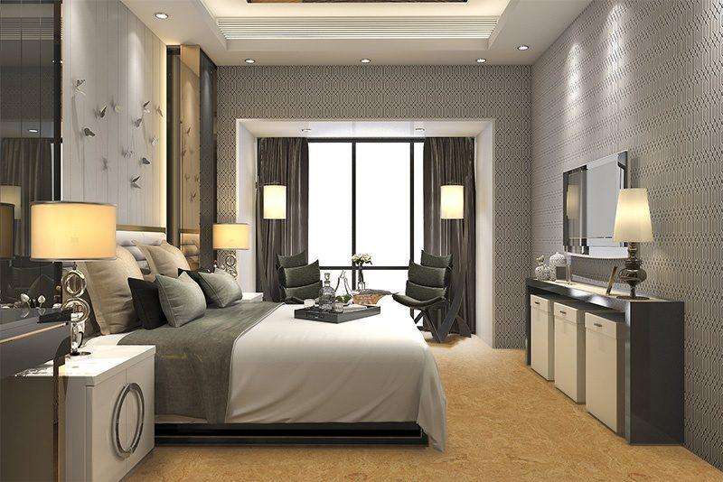 desert arable cork floor modern luxury bedroom