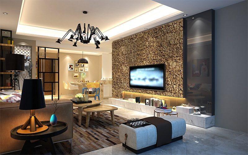 eco clay cork wall panels green soundproof livingroom design