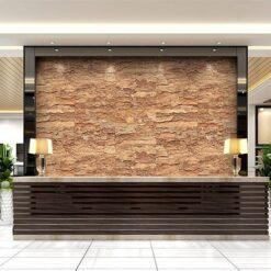 eco clay cork wall panels sustainable hotel lobby decor materials office reception area