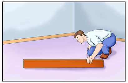 floating floor installation cork Check flatness 2