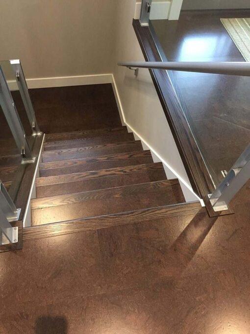 flooring brown salami cork forna floating stair