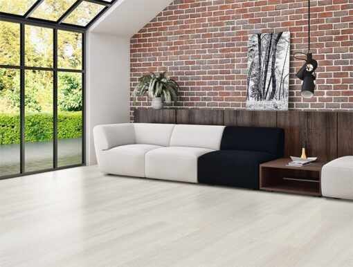 forna ash wood fusion cork flooring over radiant floor heating systems living room
