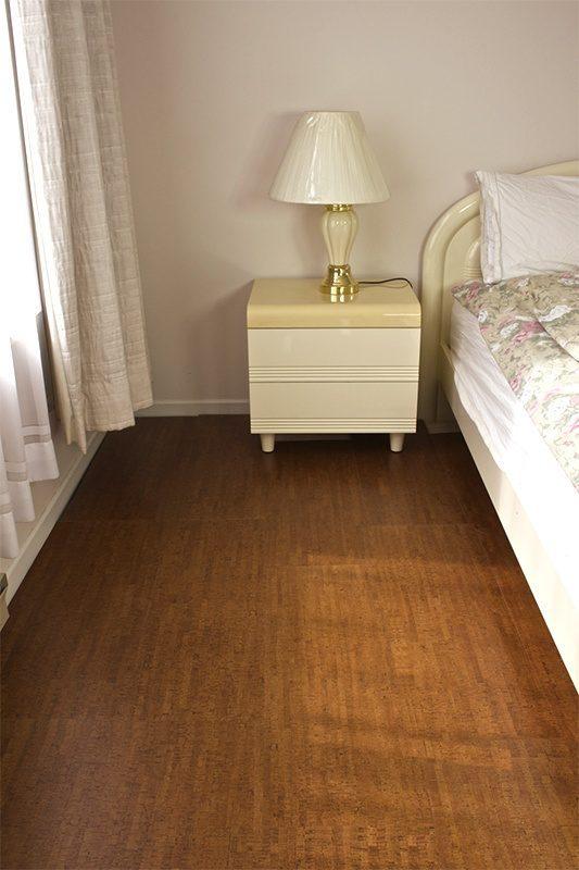 Forna cork flooring autumn birch 21 sf per box for Cork flooring in bedroom