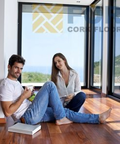 frenchroast maple engineered hardwood flooring young couple set on young couple set on floor