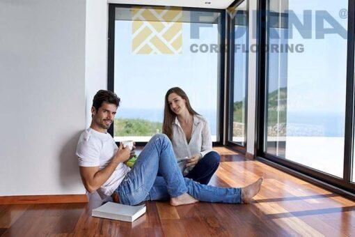 frenchroast maple engineered hardwood flooring young couple set on young couple set on floor