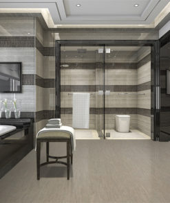 gary bamboo cork tiles -modern loft bathroom with-luxury