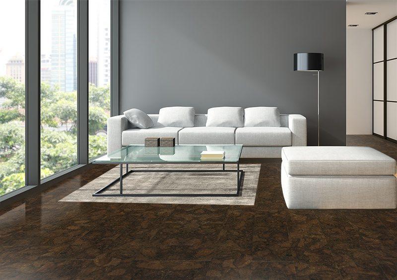 gemwood cork floors beveled planks luxury living room oval windows