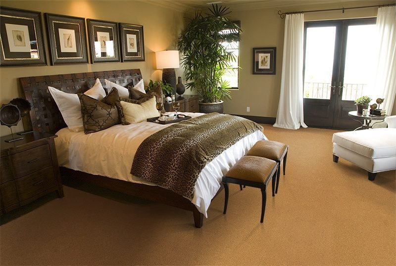 golden bach cork floor spacious luxury bedroom
