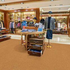 golden bach forna cork floor shopping mall store flooring