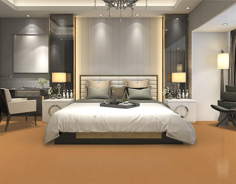 golden beach cork floor forn luxury modern bedroom suite in hotel