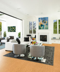 golden beach cork floor living room luxury decor