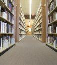 gray bamboo cork floor book shelfs local library