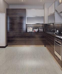 gray bamboo cork floor dining kitchen modern style