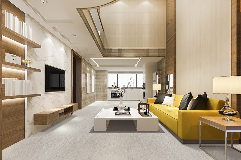 gray bamboo cork flooring trend sustainable modern interior home luxury