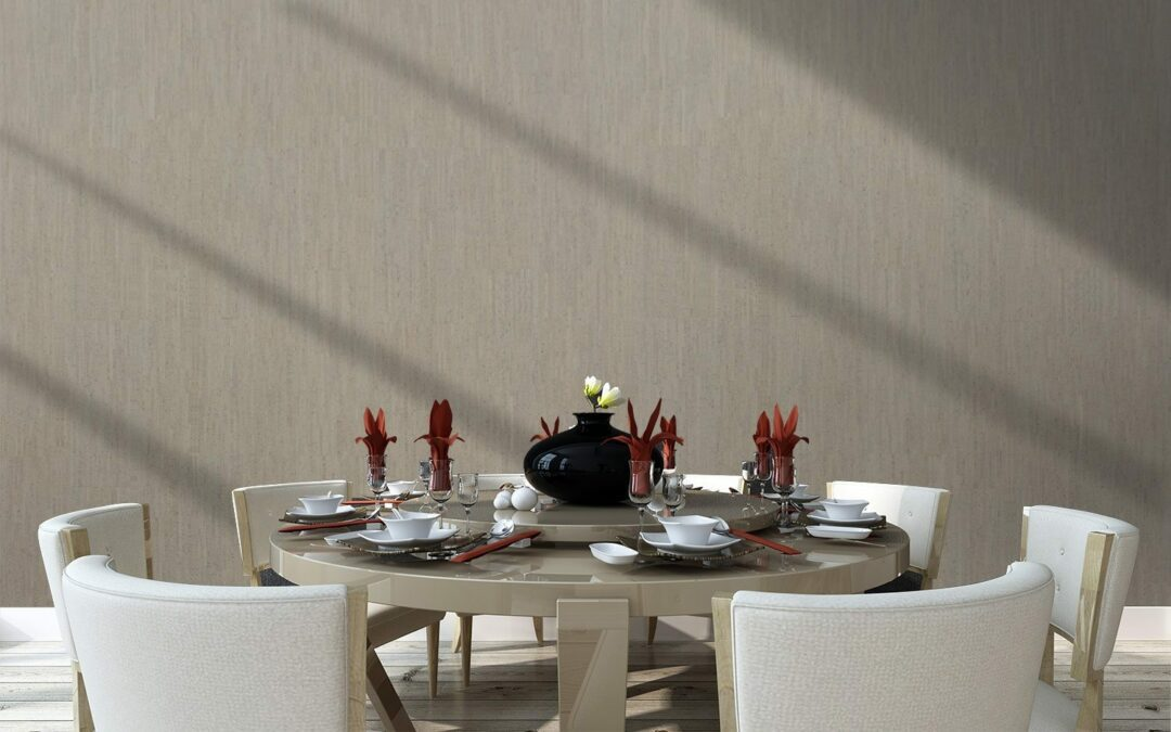 gray bamboo cork wall tiles modern hotel restaurant private room interior337094480