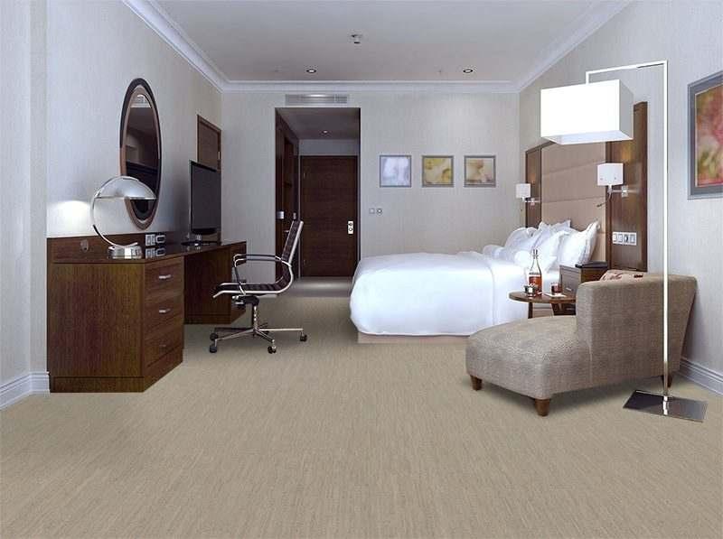 gray bamboo forna cork floor hotel room contemporary style grey