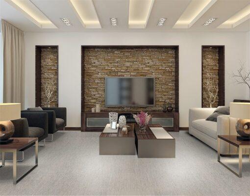 gray bamboo forna grey cork floor living room modern style interior design