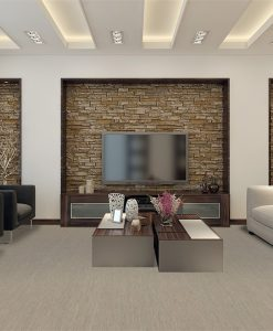 gray bamboo forna grey cork floor living room modern style interior design