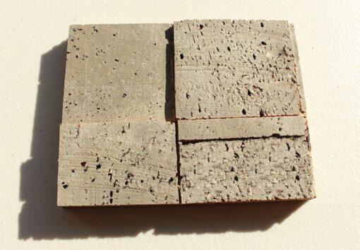 gray cubes cork wall panels peel and stick