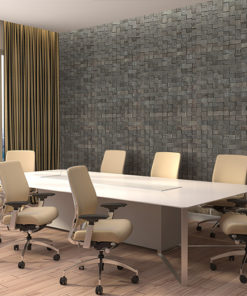 gray cubes cork wall panels peel and stick in office meeting room soundproofing