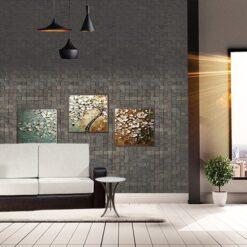 gray cubes harmony acoustic cork wall panels peel and stick in living roomgray cubes harmony acoustic cork wall panels peel and stick in living room