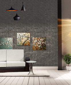 gray cubes harmony acoustic cork wall panels peel and stick in living room