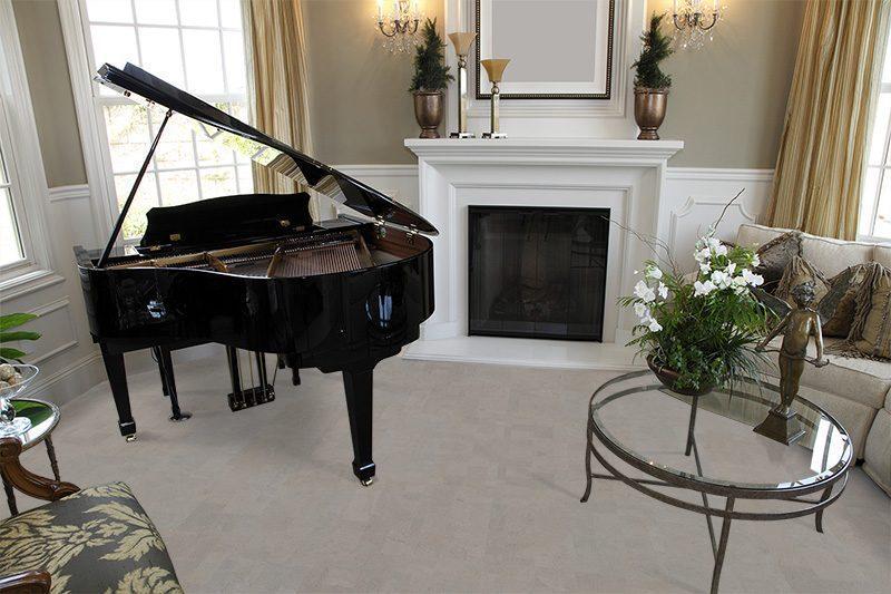 gray leather cork flooring forna luxury home grand piano stylish decor