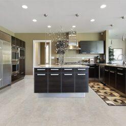gray leather cork flooring non toxic floor options modern kitchen design idea