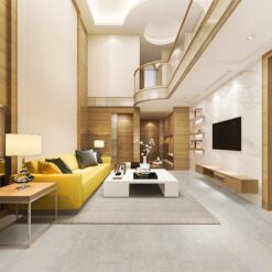 gray leather cork flooring non toxic floor options modern living room design idea